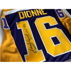 MARCEL DIONNE SIGNED CCM KINGS JERSEY w/ HOLOGRAM (NEW)