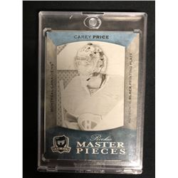 2007-08 NHL SPGU #K-194 CAREY PRICE AUTHENTIC ROOKIE CARD PRINTING PLATE (1/1)