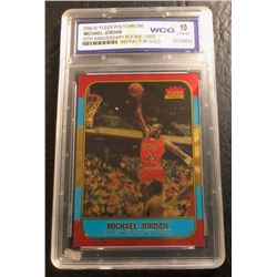 1996-97 FLEER POLYCHROME MICHAEL JORDAN 10th ANNIVERSARY Rookie Card REFRACTOR GOLD (10 GEM MINT)