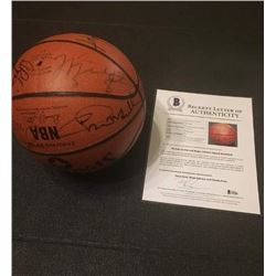 1992 DREAM TEAM SIGNED BASKETBALL (MICHAEL JORDAN/ MAGIC JOHNSON BECKETT AUTHENTICAYED  LOA)