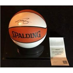 LeBRON JAMES SIGNED SPALDING BASKETBALL UPPER DECK COA
