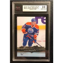 2014-15 UPPER DECK #223 LEON DRAISAITL RC (10 GEM MINT)