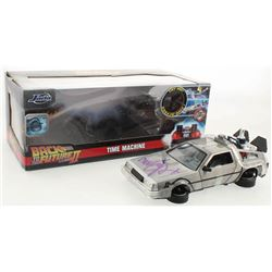 "Michael J. Fox Signed ""Back to the Future II"" DeLorean Time Machine 1:24 Die-Cast Car (Beckett Holo)"