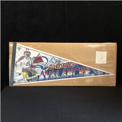 COLORADO AVALANCHE TEAM SIGNED PENNANT w/ FORSBERG, DRURY, HARTLEY + MORE