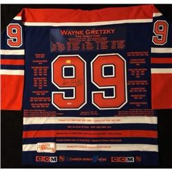 WAYNE GRETZKY SIGNED OILERS CAPTAIN STATS JERSEY (AUTOGRAPH AUTHENTIC COA)