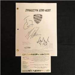 BROOKLYN NINE-NINE MULTI SIGNED SHOW SCRIPT w/ TERRY CREWS, ANDY SAMBERG, MELISS FUMERO Includes COA