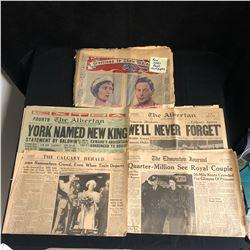 VINTAGE NEWSPRINT LOT (1930s ROYAL FAMILY...)