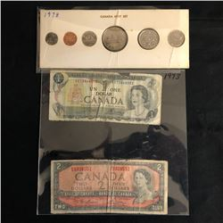 CANADIAN COINS/ BANK NOTES LOT