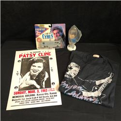 MUSIC COLLECTIBLES LOT (POSTER, T-SHIRT...)