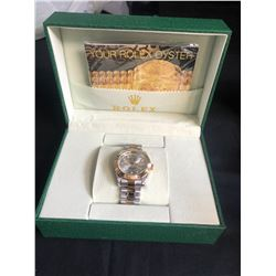 AAA REPLICA ROLEX OYSTER PERPETUAL DATEJUST WRIST WATCH w/ BOX & PAPERS