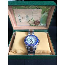 AAA REPLICA ROLEX OYSTER PERPETUAL SUPERLATIVE CHRONOMETER WRIST WATCH w/ BOX & PAPERS