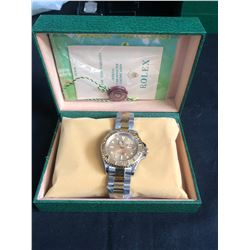 AAA REPLICA ROLEX OYSTER PERPETUAL YACHT MASTER  SUPERLATIVE CHRONOMETER WRIST WATCH w/ BOX & PAPERS