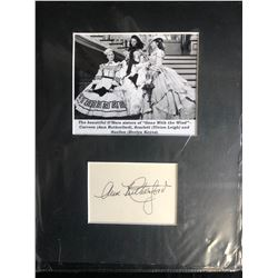 ANN RUTHERFORD SIGNED INDEX CARD PHOTO DISPLAY