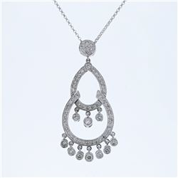 0.95 CTW Diamond Necklace 14K White Gold - REF-70K8W