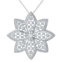 1.28 CTW Diamond Necklace 14K White Gold - REF-138R3K