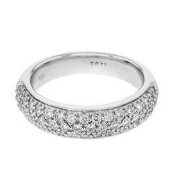 0.77 CTW Diamond Ring 18K White Gold - REF-97K6W