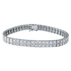 3.53 CTW Diamond Bracelet 18K White Gold - REF-318R5K