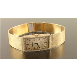 Vintage Longines Diamond & Gold Watch