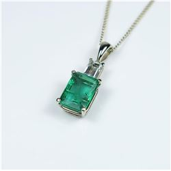 Exquisite G.I.A. Certified Emerald and Diamond
