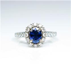 Beautiful NEW Ceylon Blue Sapphire and Diamond