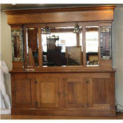 Antique American Oak Bar