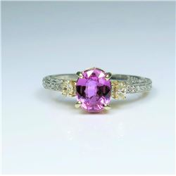 Dazzling Extra Fine Pink Sapphire and Diamond