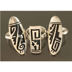 Collection of 3 Hopi Rings