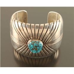 Navajo Spider Web Turquoise Cuff