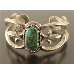 Navajo Green Turquoise Cuff