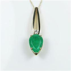 Gorgeous Columbian Emerald and Diamond Pendant