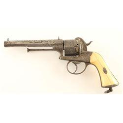 E. Lefaucheux Pinfire Revolver 11mm SN: 466