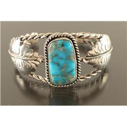 Navajo Blue Gem Turquoise Cuff
