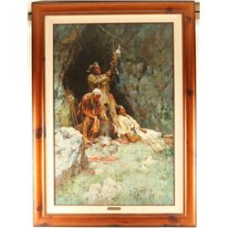 Framed Howard Terpning Giclee