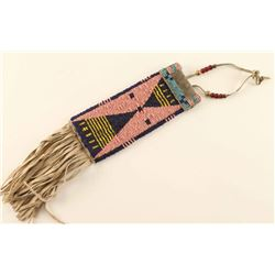 Crow Rectangular Beaded