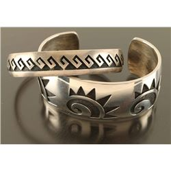 Lot of (2) Hopi Sterling Bracelet