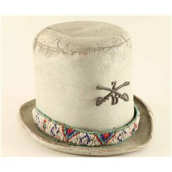 Antique Leather Top Hat