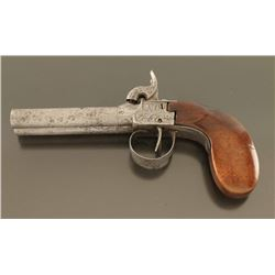Unsigned Double Barrel Breech Loading Pistol