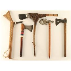 Lot of (5) Indian Tomahawks