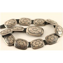 Hopi Sterling Concho Belt