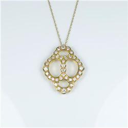 Brilliant Extra Fine Vintage Diamond Pendant