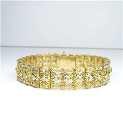 One of a Kind Vintage Art Deco Diamond Bracelet
