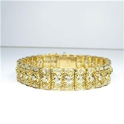 One of a Kind Vintage Art Deco Diamond Bracelet