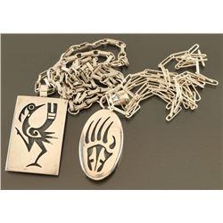 Lot of 2 Sterling Hopi Necklaces