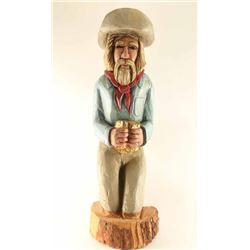 Carved Wooden Miner