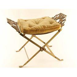 Antique Brass Vanity Seat