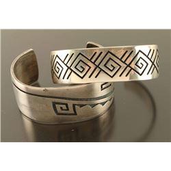 Lot of 2 Sterling Hopi Bracelets