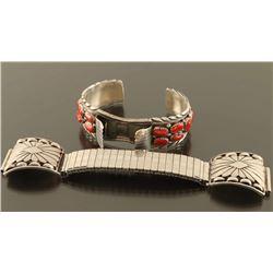 Lot of 2 Navajo Watchbands