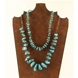 Lot of 2 Navajo Turquoise Necklaces