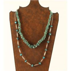 Lot of 2 Turquoise Necklaces