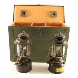 Lot of (2) US Military Lanterns